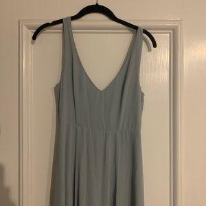 Jenn Maxi Dress ~ Steel Blue Chiffon -Extra Small